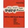 1979 - 1985 Toyota Truck & 4Runner Factory Repair Manual